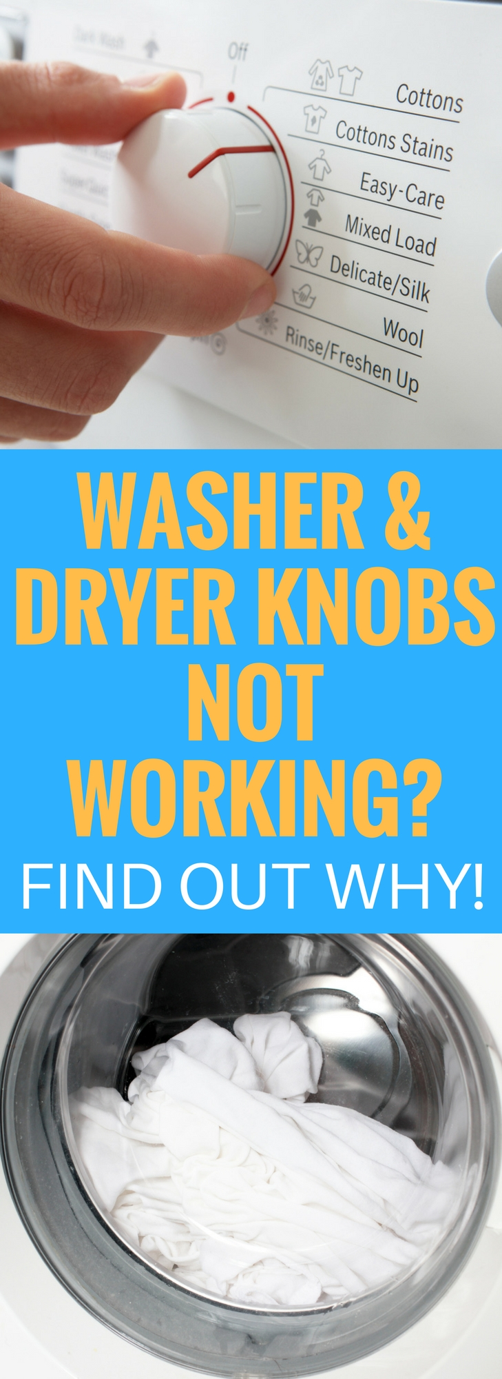Washer and Dryer Knobs Not Working?  Here is an easy fix!