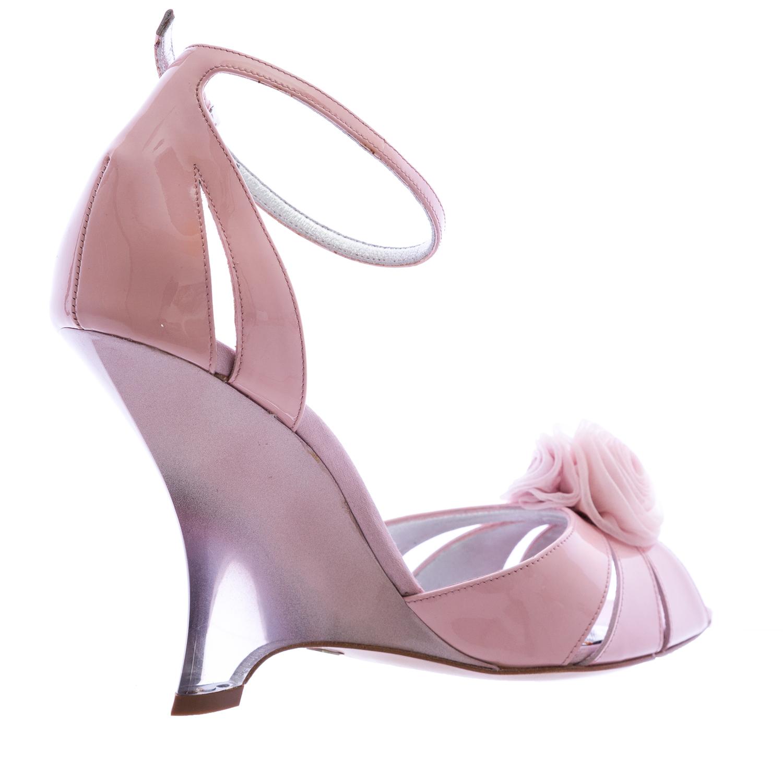 e064646eafca GIORGIO ARMANI Pink Patent Leather Stiletto Wedges XGDC66 US 9.5   EU 39.5   875
