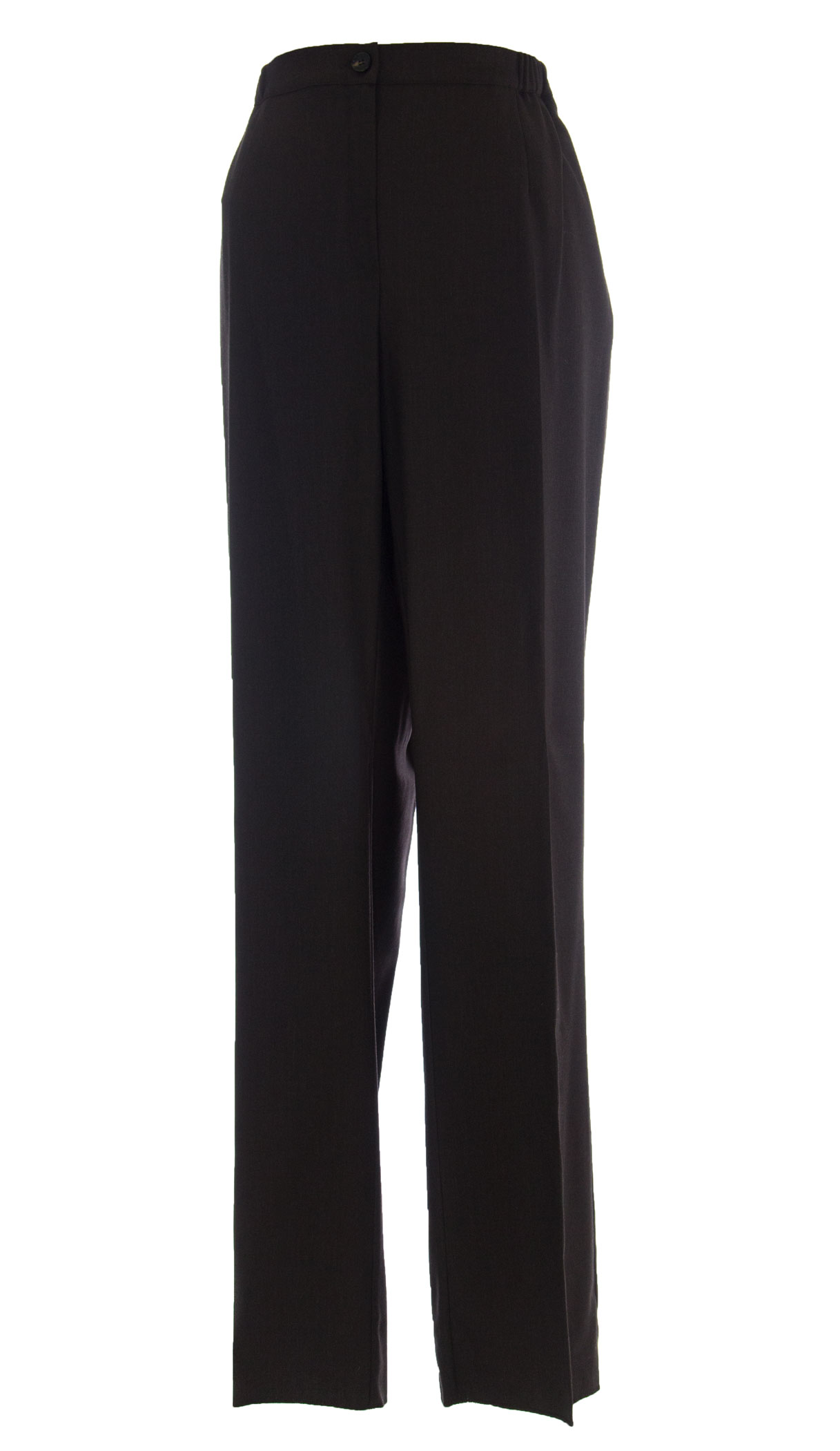 MARINA RINALDI by MaxMara Barghe Dark Brown Unhemmed Dress Pants  22W   31