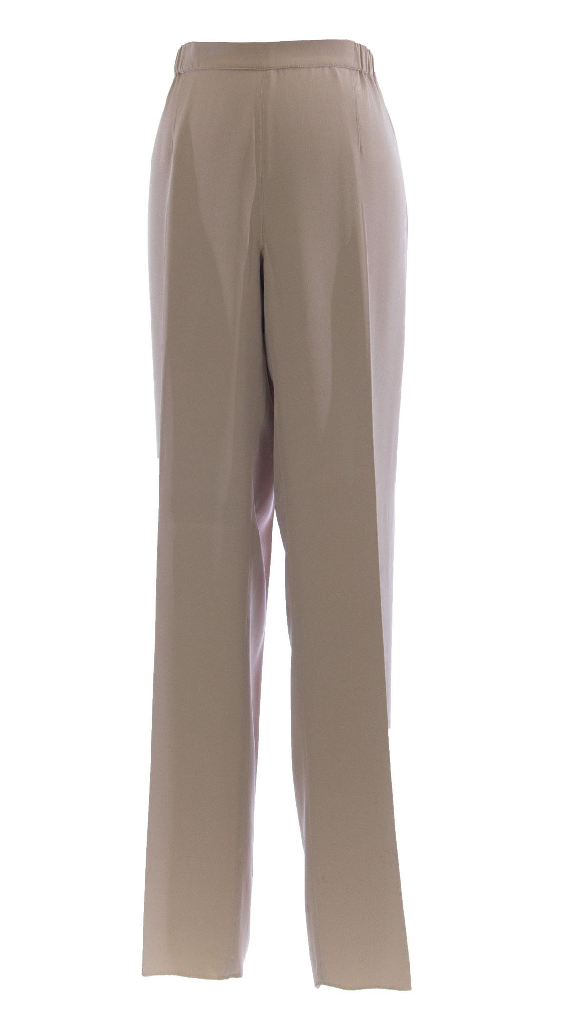 MARINA RINALDI by MaxMara Baritono Beige Unhemmed Dress Pants  14W   23
