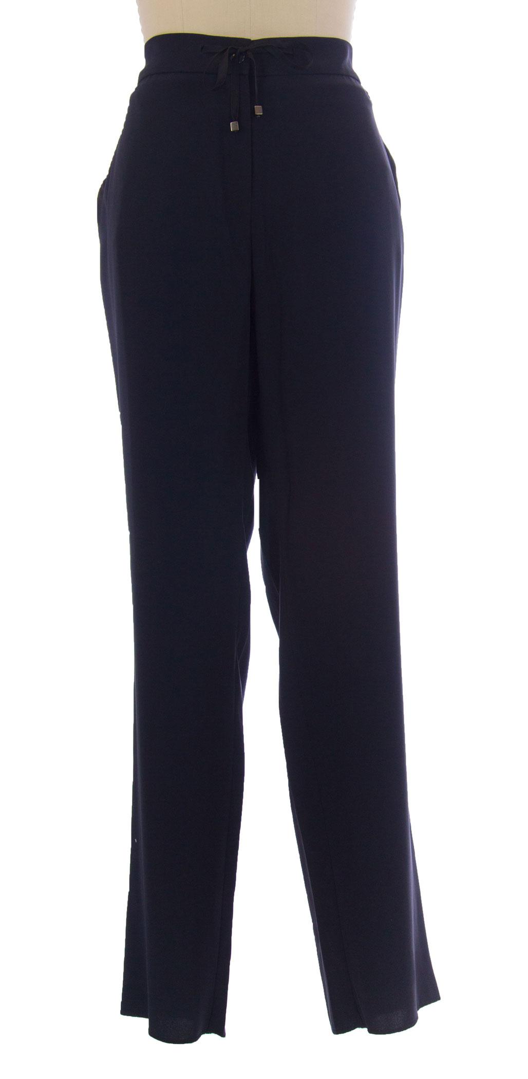 MARINA RINALDI by MaxMara Bavarese Navy bluee Long Dress Pants  285 NWT