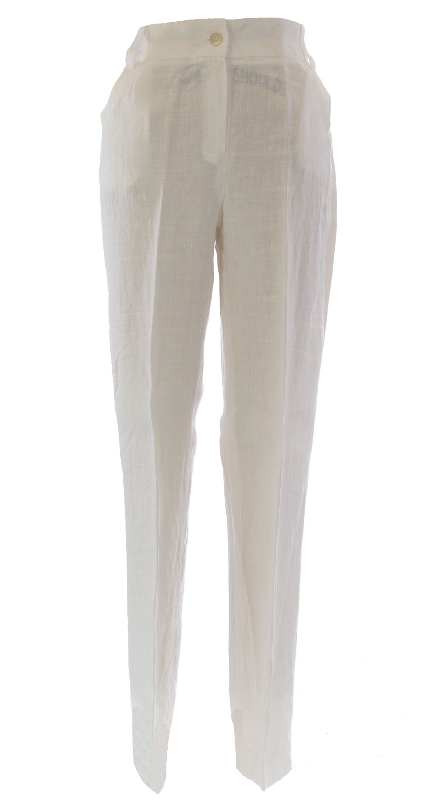 MARINA RINALDI by MaxMara Berno White Elastic Waist Dress Pants  385 NWT