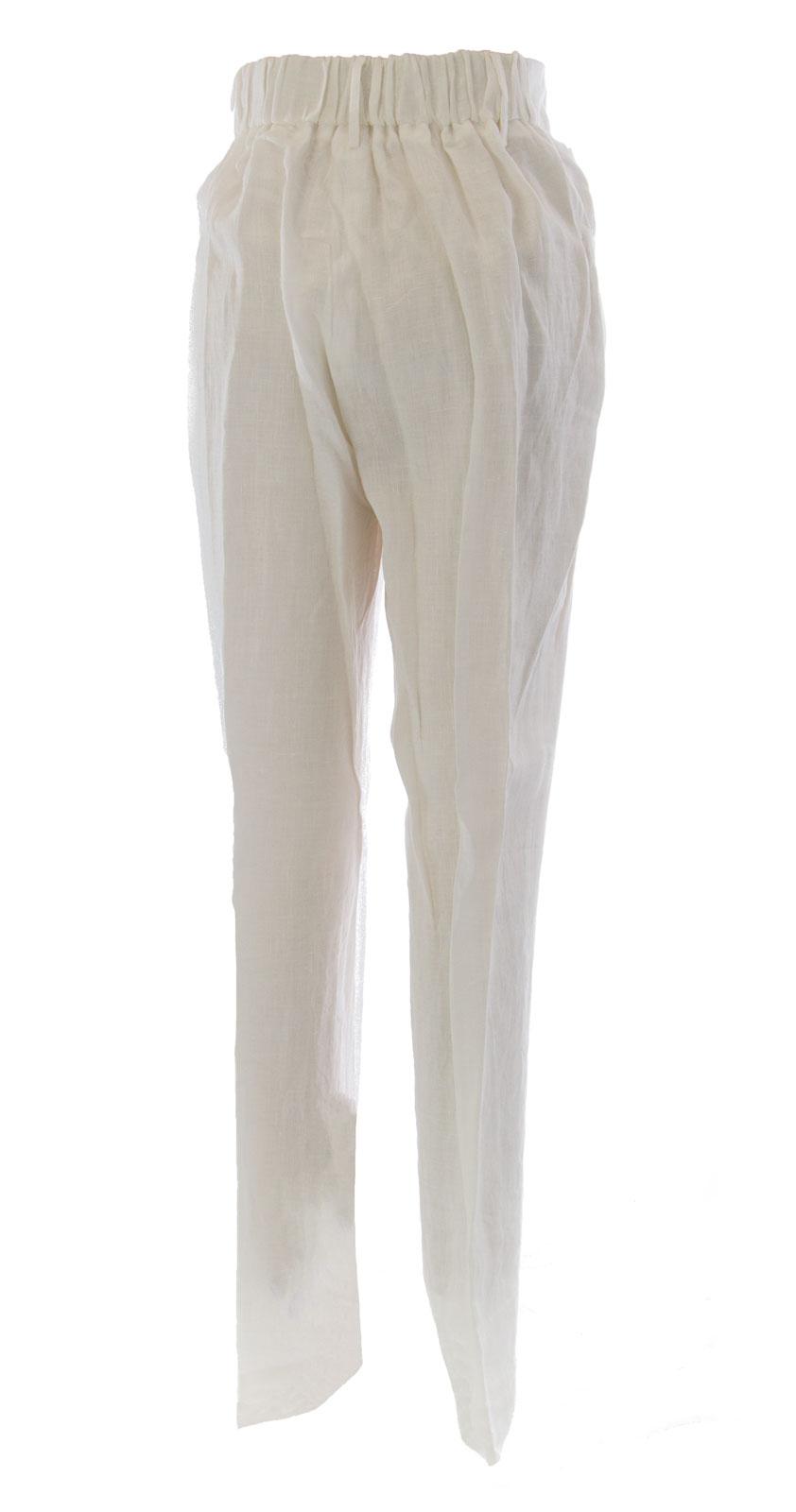 Marina Rinaldi By Maxmara Maxmara Maxmara Berno Weiß Gummibund Anzughose Nwt | Ausgezeichnete Qualität  | Wirtschaftlich und praktisch  | Qualität Produkte  0f2a0f