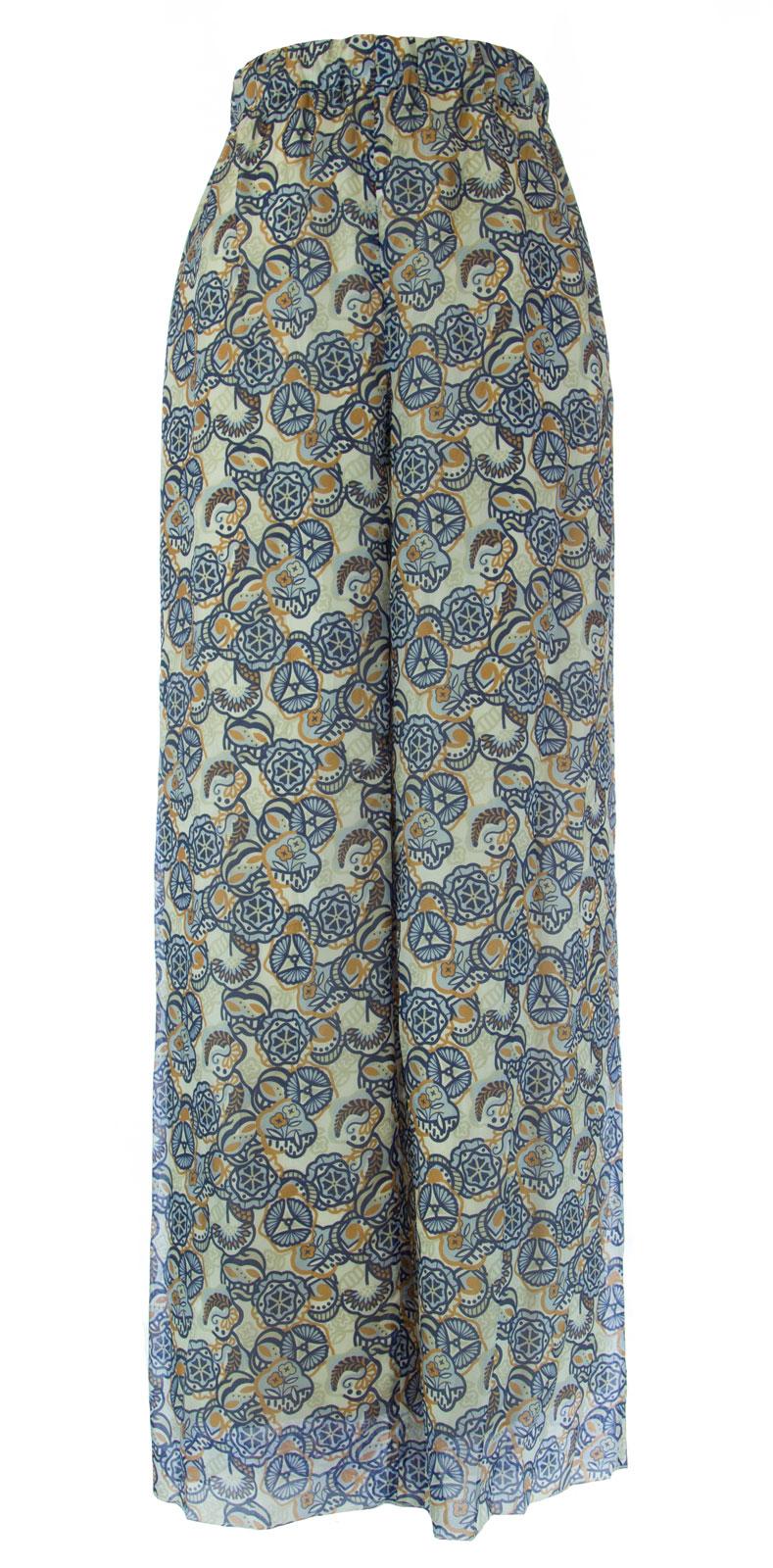 MARINA RINALDI by MaxMara Biliardo Multi-color Graphic Flared Pants  12W   21