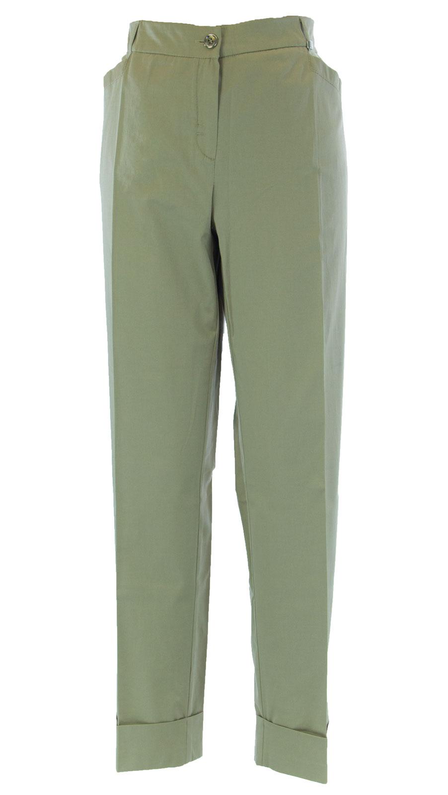 MARINA RINALDI by MaxMara Binnie Beige Cuffed Dress Pants  380 NWT