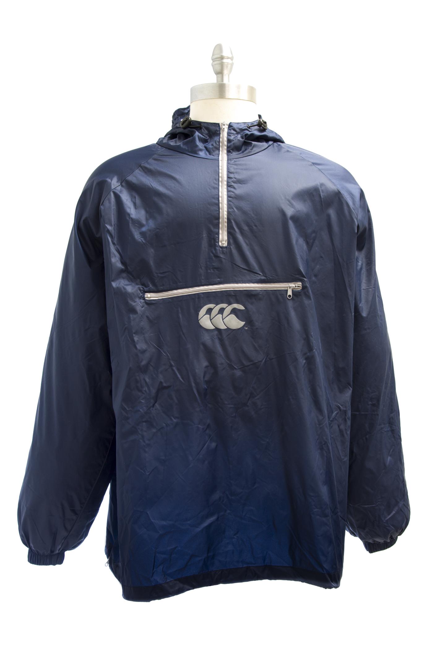 Canterbury of New Zealand Navy Blue Half Zip Windbreaker Jacket F58188 $98 NEW