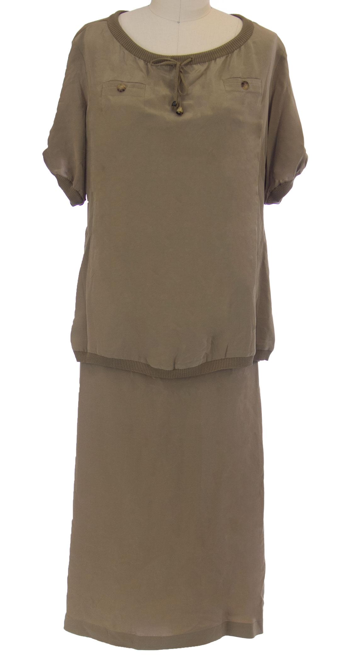 MARINA RINALDI by MaxMara Dicembr Khaki 2-PC Outfit 12W   21