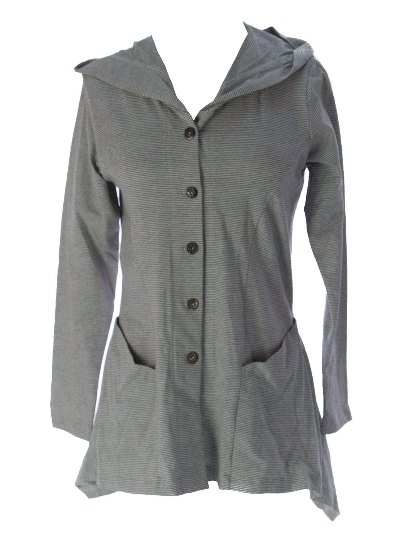 Lunn Women/'s Dimitrie Mandarine Striped Hooded Jacket E114LF119 $145 NEW