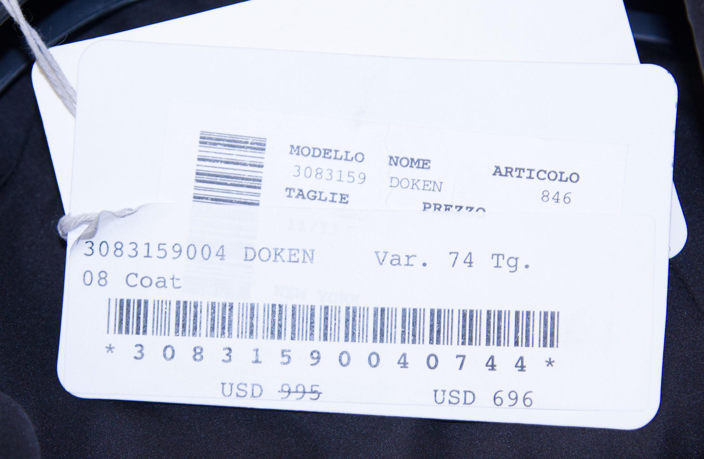 21 Doken Tweed Par Rinaldi Marina 12w Manteau Réversible Maxmara blanc Noir wxP7tvOq