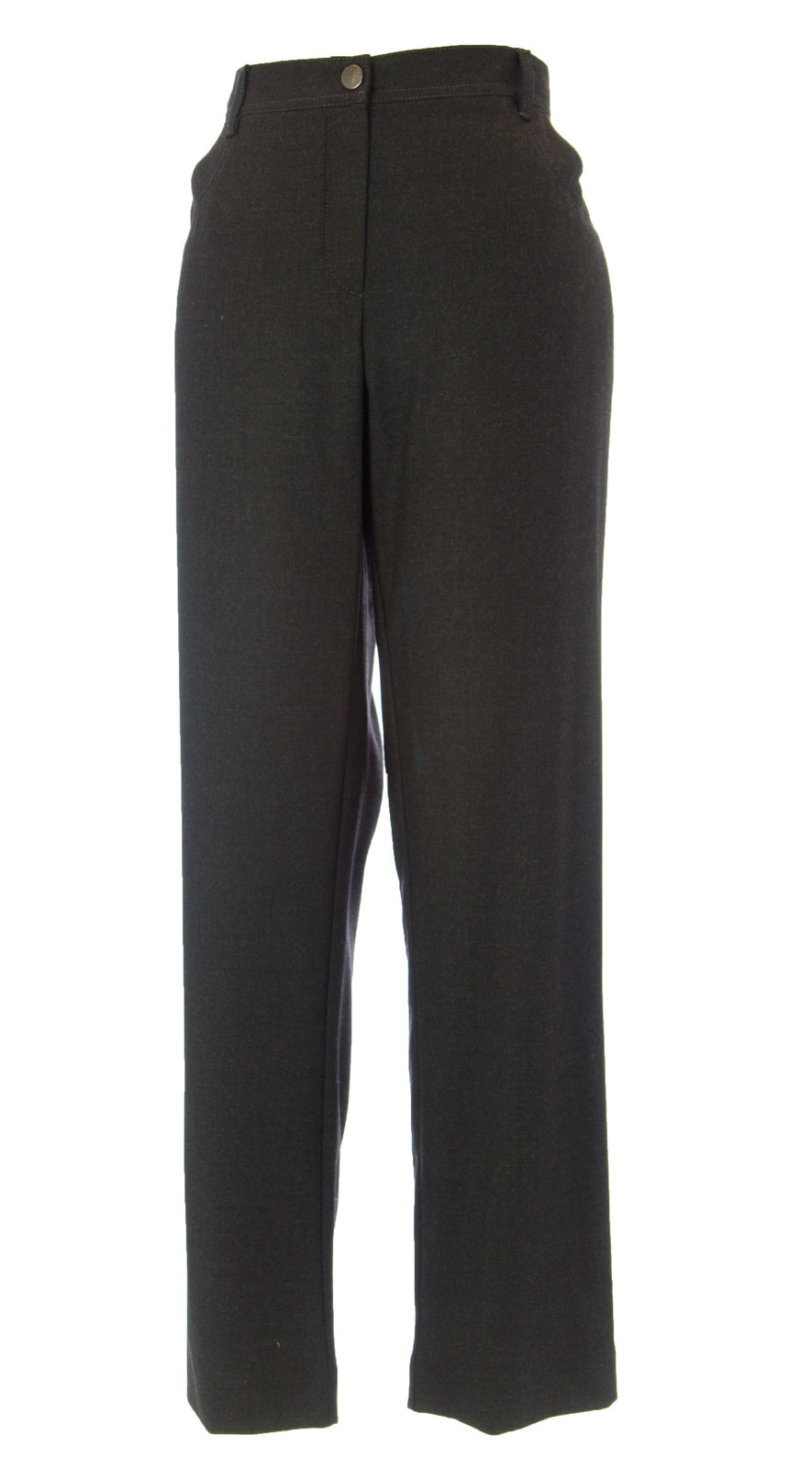 MARINA RINALDI by MaxMara Edmea Charcoal Striaght Leg Dress Pants  12W   21