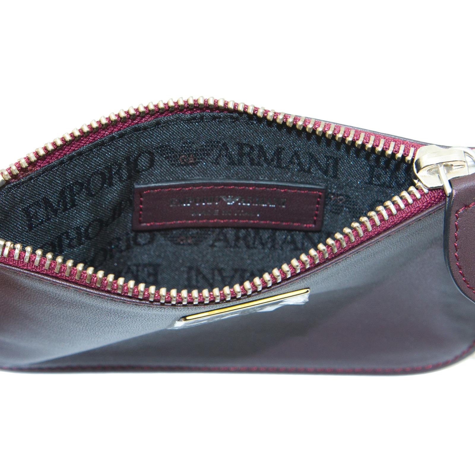 EMPORIO-ARMANI-Women-039-s-034-2012-034-Zip-Top-Coin-Purse-Wallet-YEMG99-195-NWT thumbnail 13