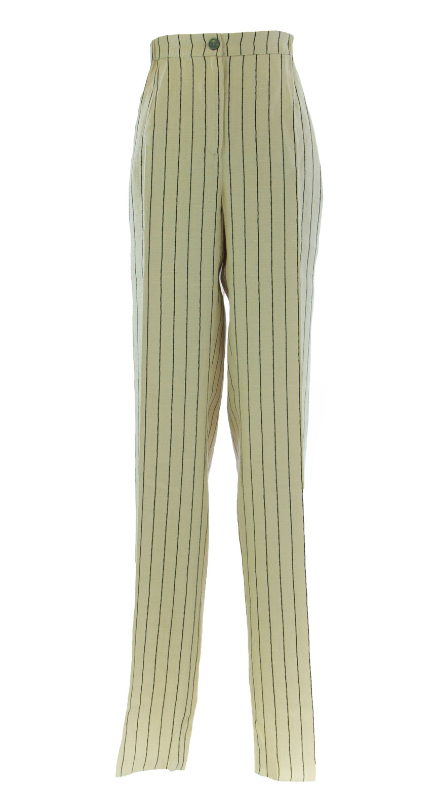 MARINA RINALDI by MaxMara Cream Pinstriped Unhemmed Dress Pants  437 NWT