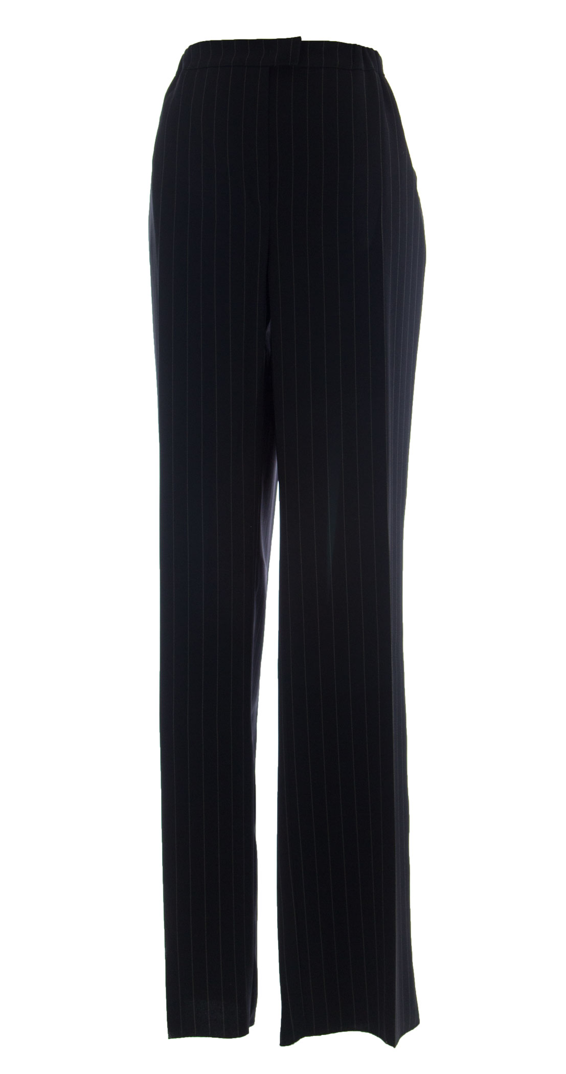 MARINA RINALDI by MaxMara Ex-Harv Midnight bluee Striped Dress Pants  12W   21