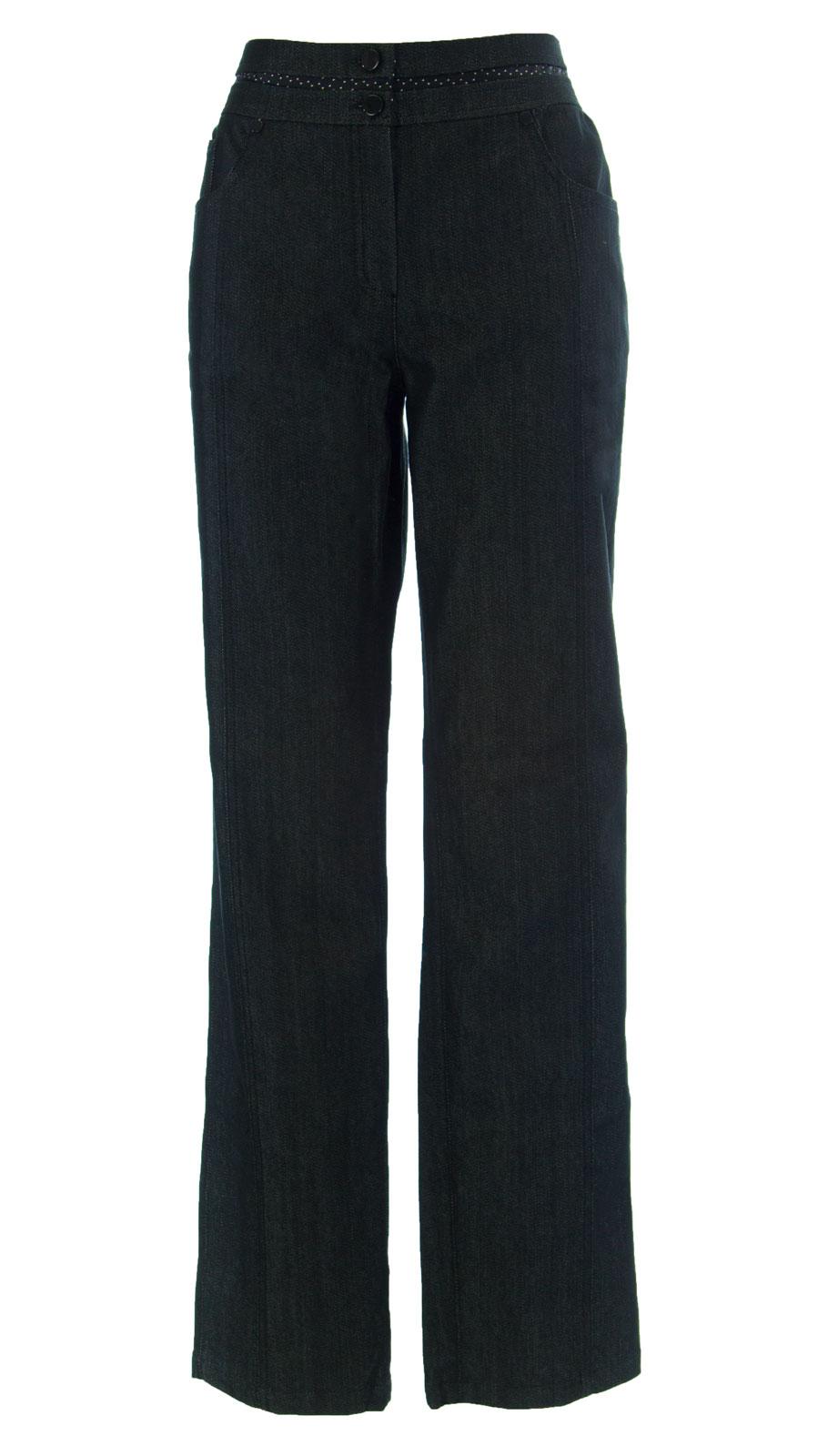 Marina Rinaldi By Maxmara Gigiotta Schwarz Straight Leg Leg Leg Jeans 12w 21 4d760b
