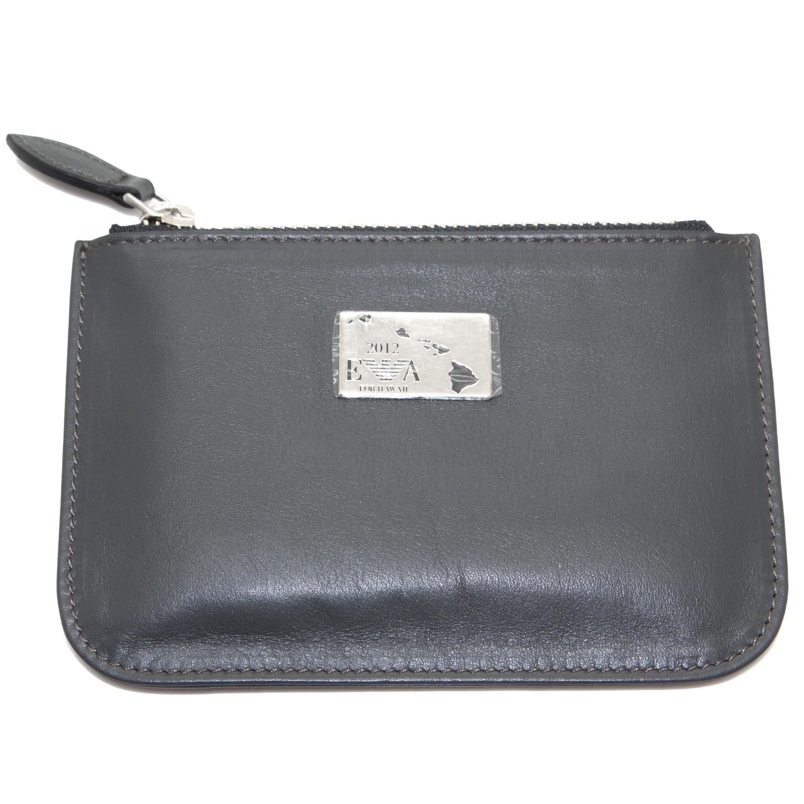 EMPORIO-ARMANI-Women-039-s-034-2012-034-Zip-Top-Coin-Purse-Wallet-YEMG99-195-NWT thumbnail 5