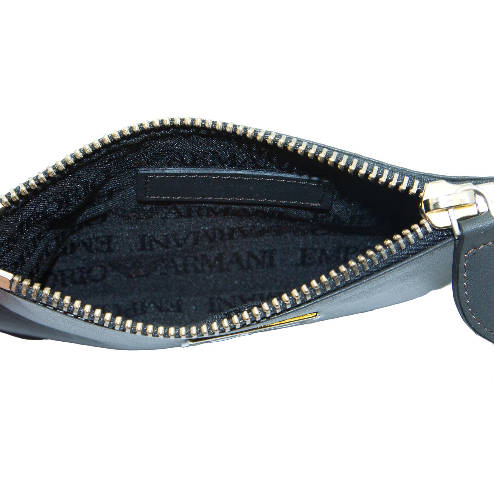 EMPORIO-ARMANI-Women-039-s-034-2012-034-Zip-Top-Coin-Purse-Wallet-YEMG99-195-NWT thumbnail 7