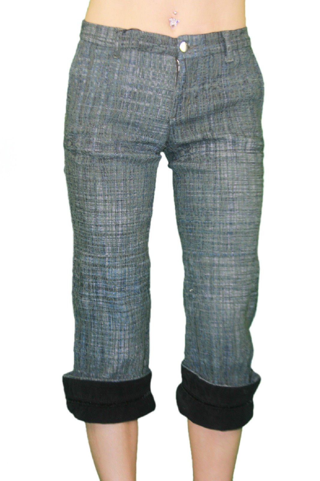 CUSTO BARCELONA Women/'s King Fu Cropped Capris Pants 593044 $174 NWT