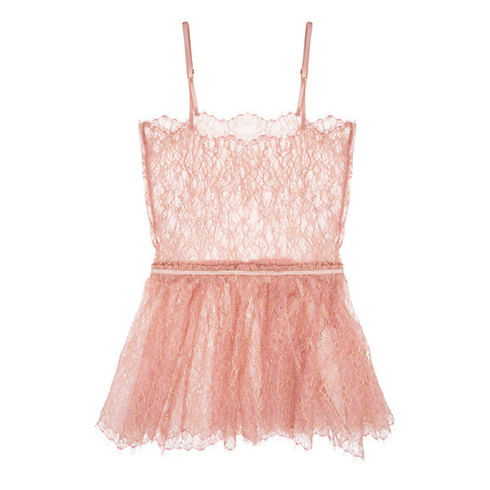 a1227b1c7722 Details about ZINKE Intimates Women's Rose Gold Lace Quinn Cami $117 NEW