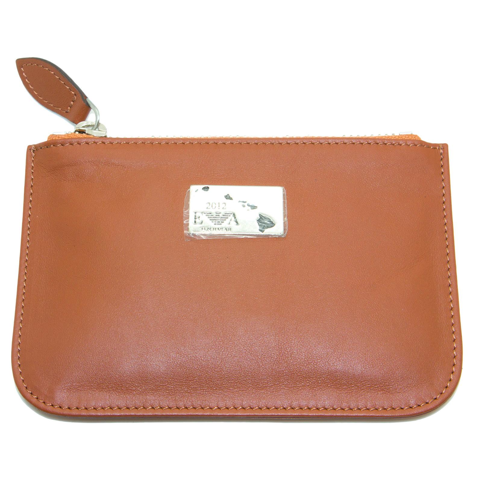 EMPORIO-ARMANI-Women-039-s-034-2012-034-Zip-Top-Coin-Purse-Wallet-YEMG99-195-NWT thumbnail 8