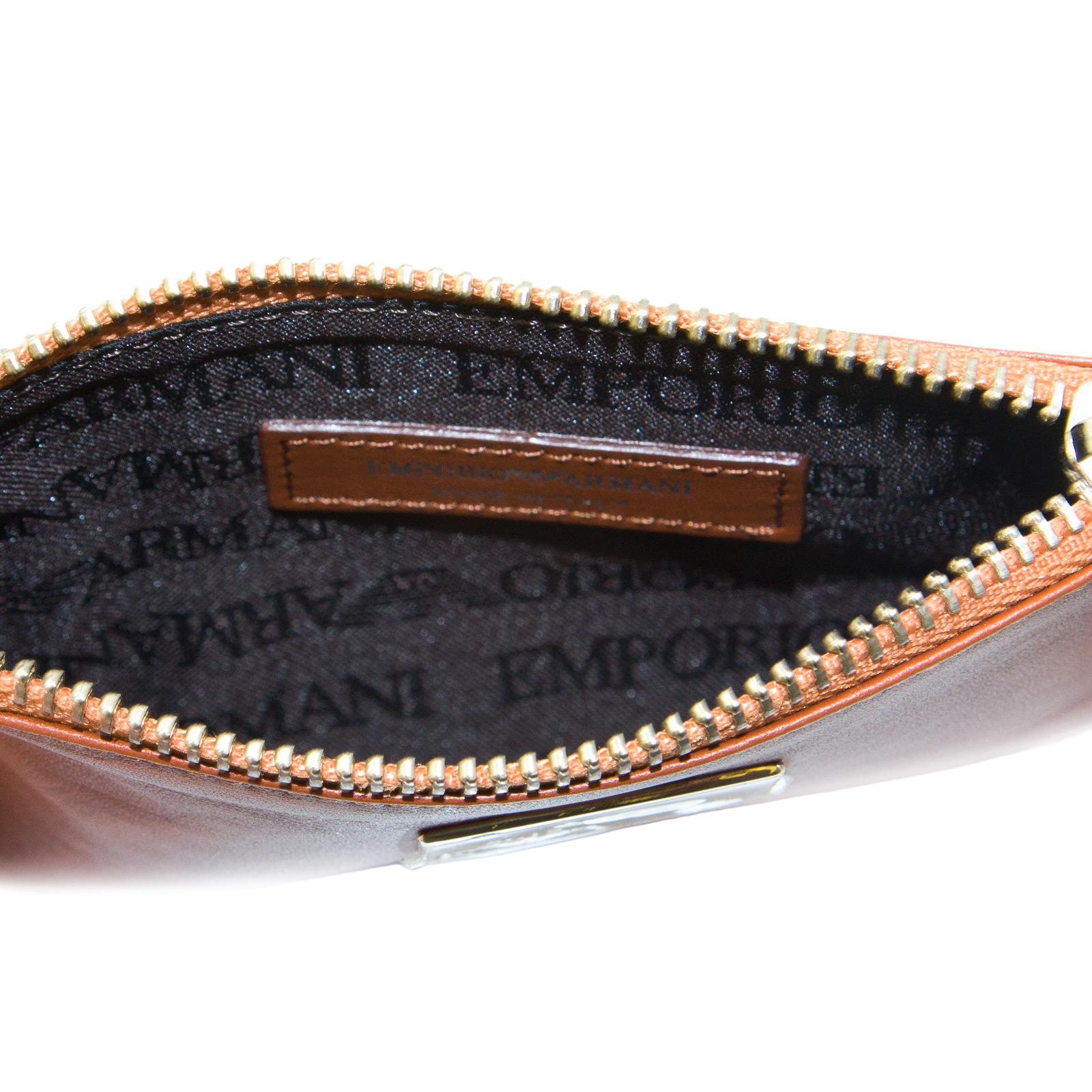 EMPORIO-ARMANI-Women-039-s-034-2012-034-Zip-Top-Coin-Purse-Wallet-YEMG99-195-NWT thumbnail 10