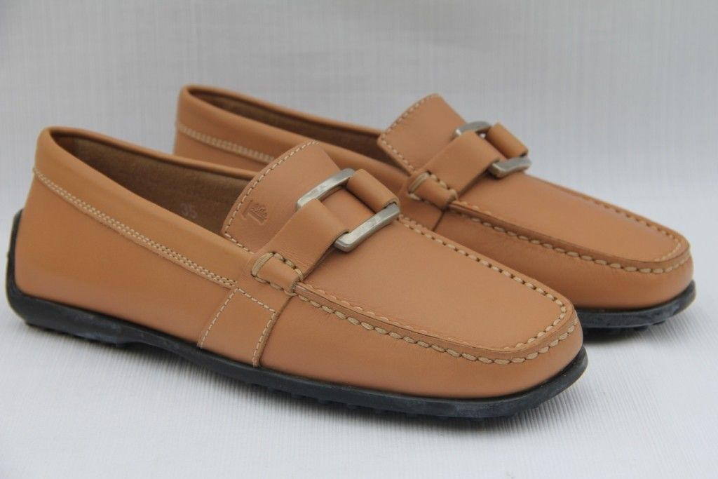 1b9b95a7cf66d TOD'S Women's Moc Ovale Metallo Guaina Donna Camel Loafers Shoes US 5 / 35  NEW