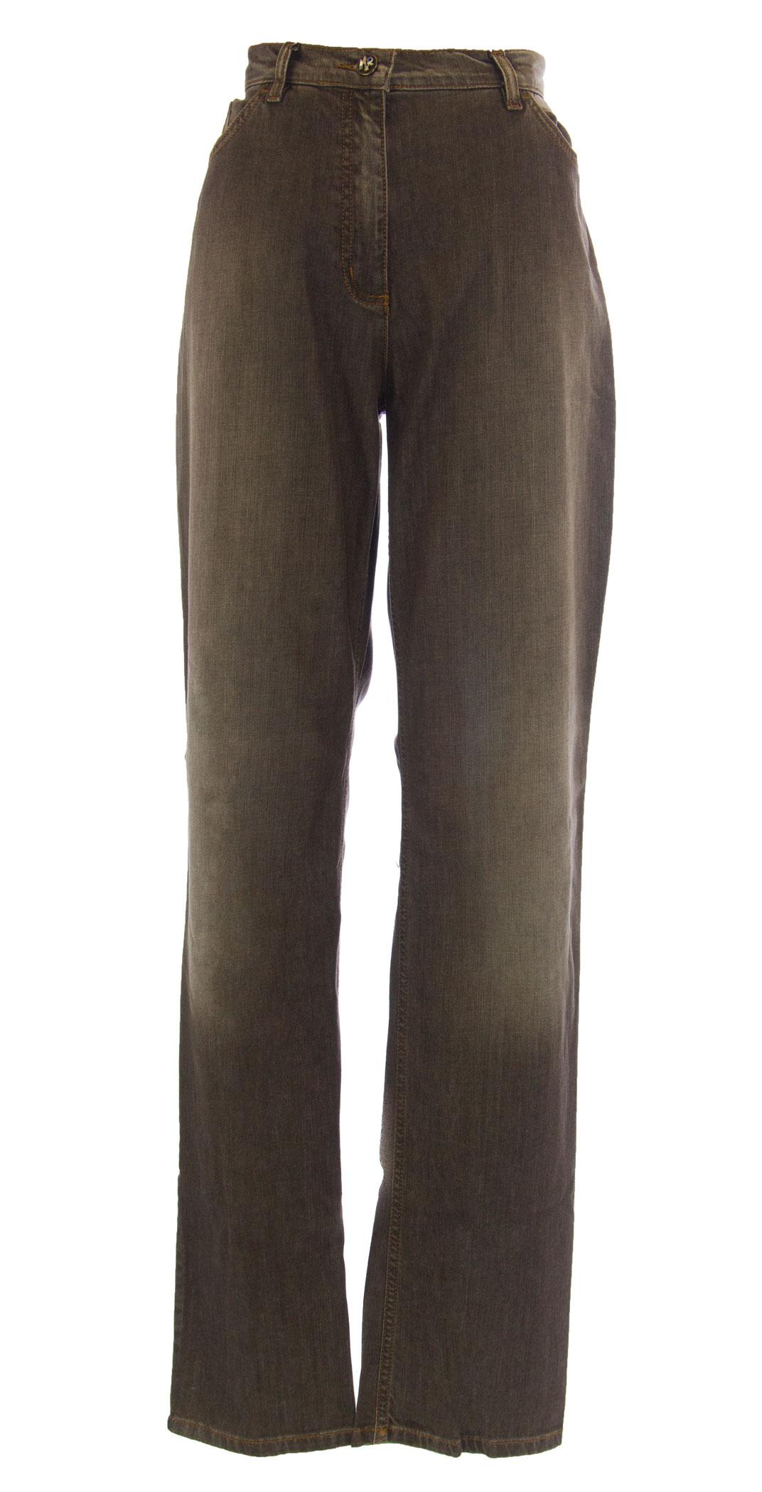 MARINA RINALDI by MaxMara Wami Brown Straight Leg Jeans  350 NWT