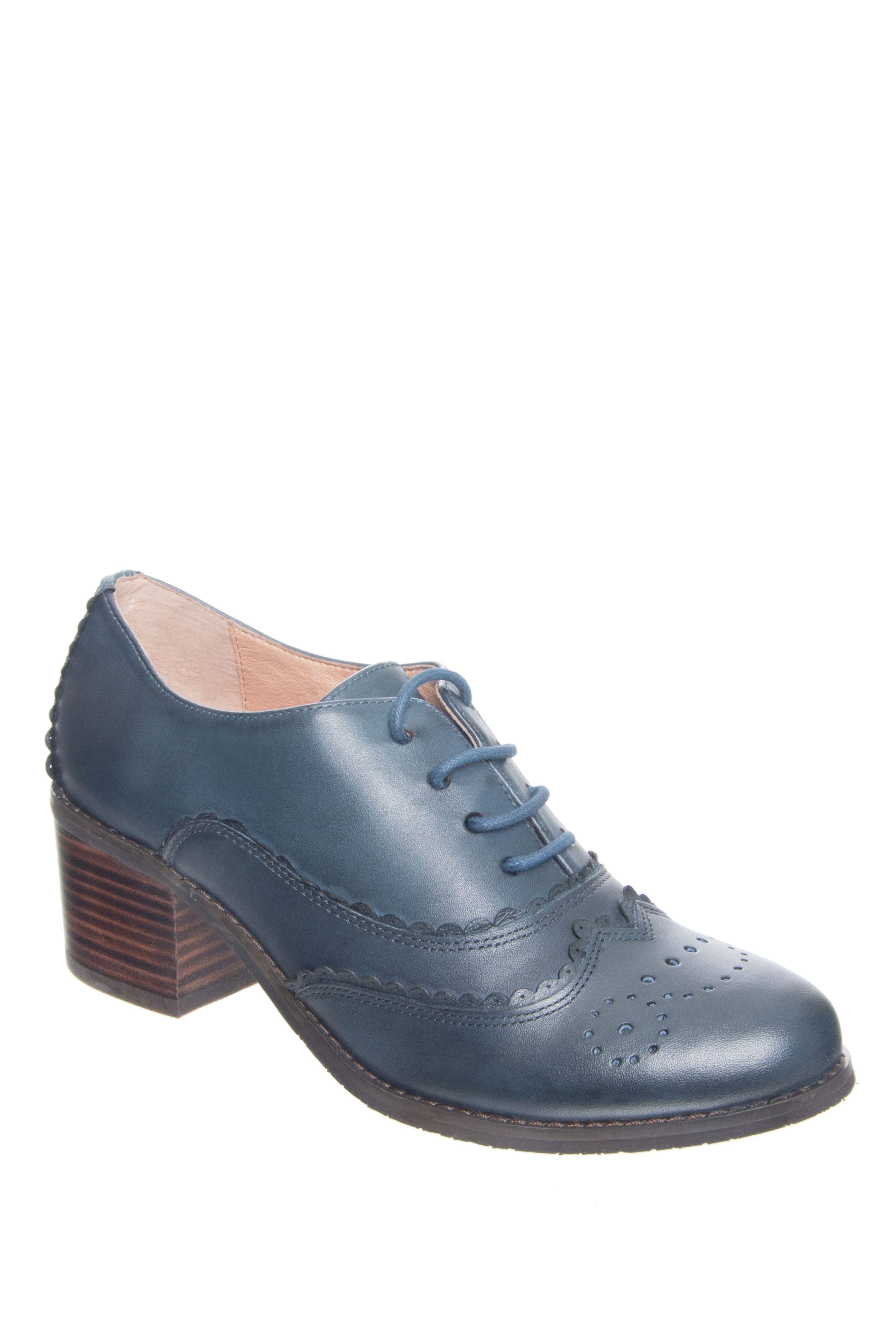 Miz Mooz Chiara Mid Heel Oxford - Blue