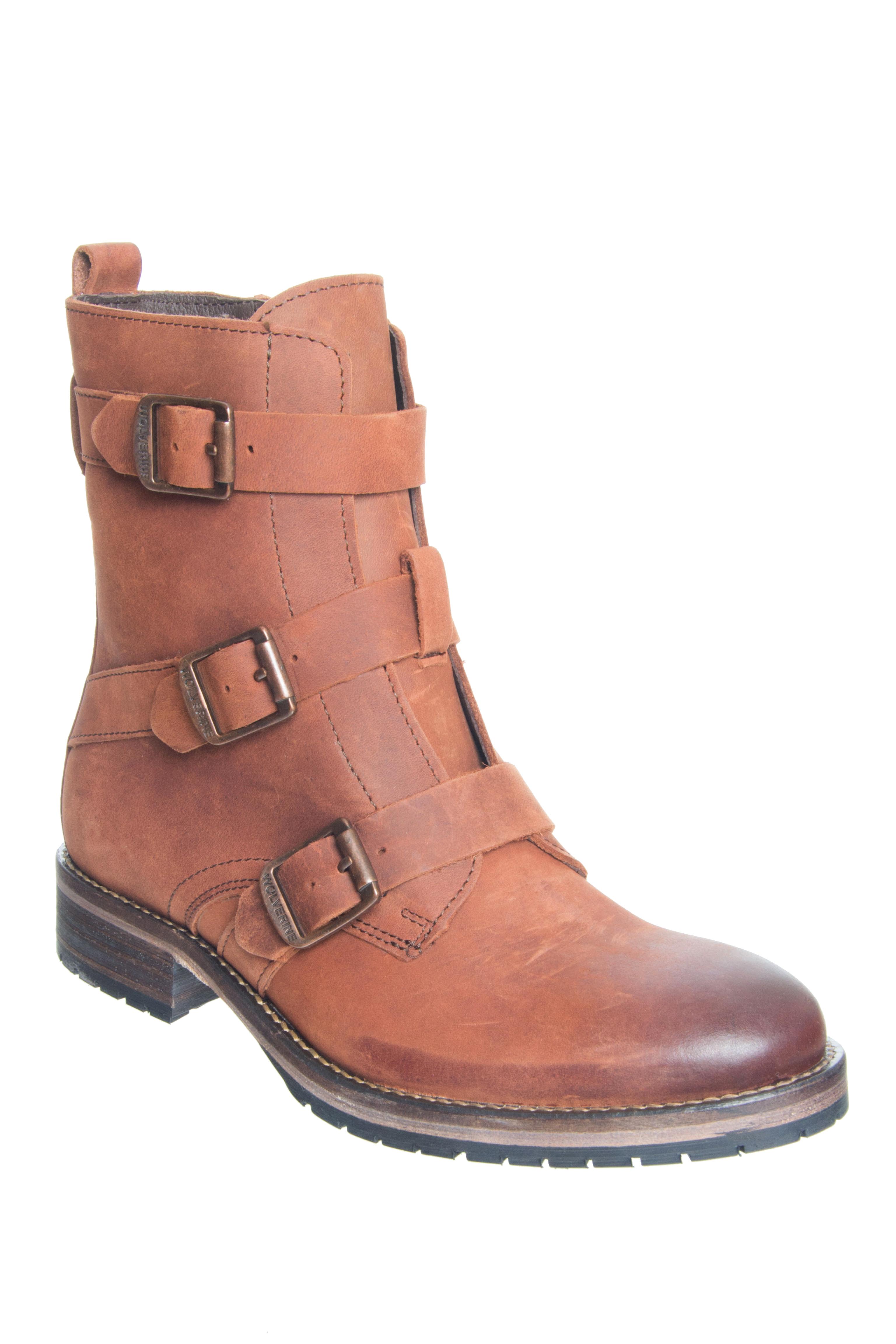 Wolverine 1883 Lizzie 6 inch Buckle Boots - Brown