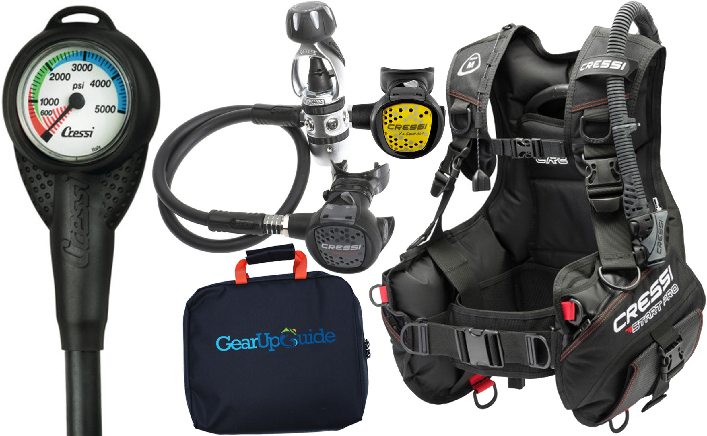 cressi start pro 2 0 scuba diving gear package assembled gupg reg bag ebay