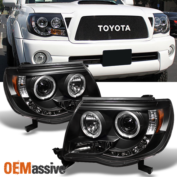 2005 2011 Toyota Tacoma Black Halo Projector Led