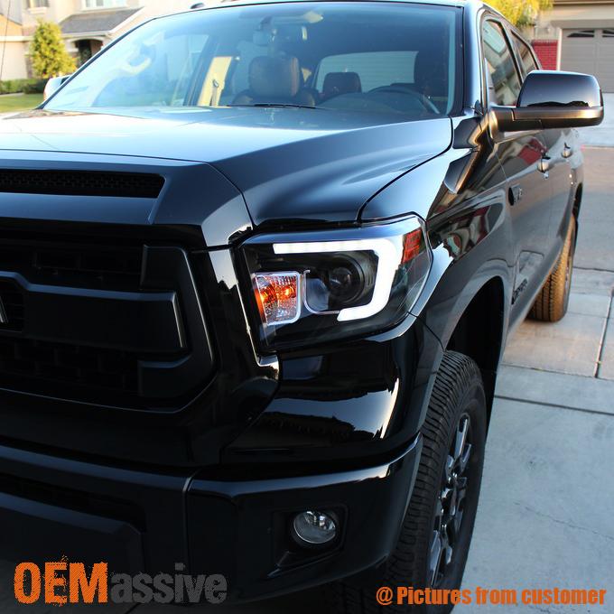 Fits 2014 2017 Tundra Sr Sr5 Limited Trd Pro Black Drl Led