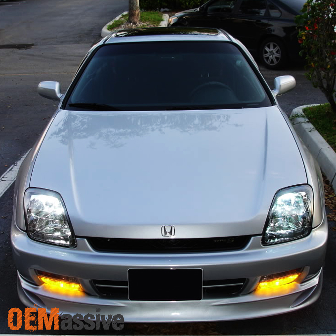 Honda Prelude Type Sh 1998 Front: Fit 97-01 Honda Prelude Bumper Driving Yellow Fog Lights W