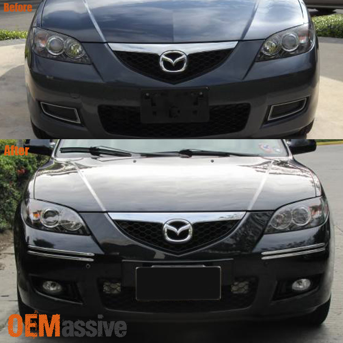 2007 2009 Mazda 3 Mazda3 Sedan Bumper Fog Lights W/Bulbs+Switch 07 09  Left+Right