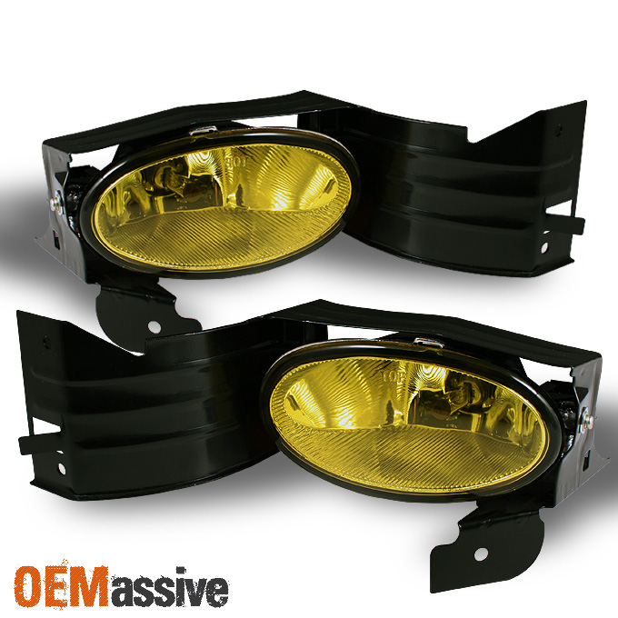 Fit 2008 2009 2010 Accord 2dr Coupe Bumper Yellow Fog