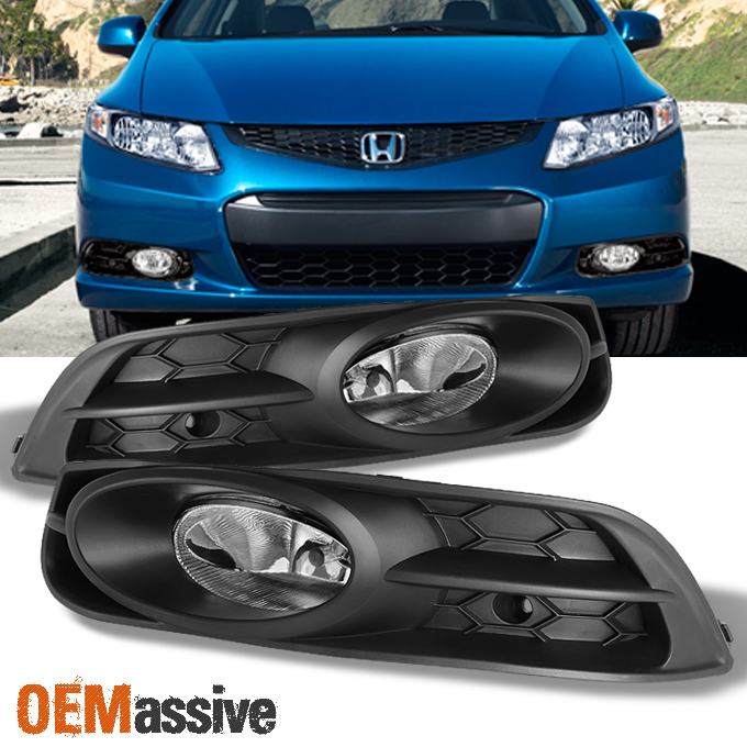 Fit 12-13 Honda Civic 2 Door Coupe Fog Lights Lamps Yellow w//Switch//Relay//Wiring