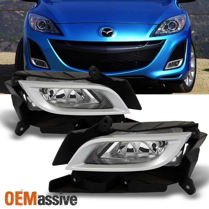 Fit 2010 2011 Mazda 3 Mazda Sedan 4/5dr Fog Lights Lamps W/Switch+Bezel L+R