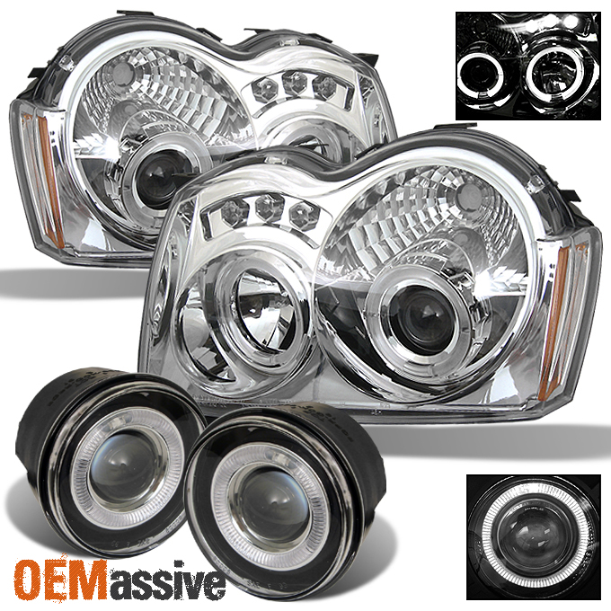 Fits-05-07-Grand-Cherokee-Halo-Projector-LED-Headlights-Halo-Projector-Fog-Lamps