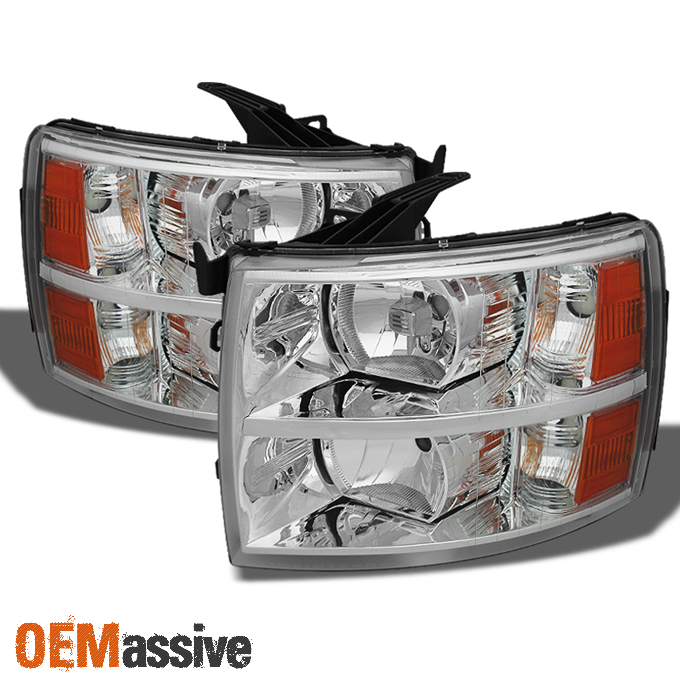 Fit 2007 2008 2009 2010 2011 2012 2013 Chevy Silverado Headlights Replacement