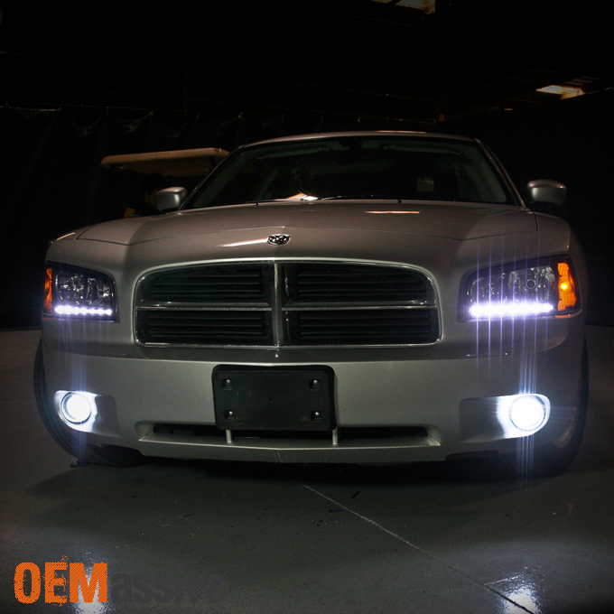 Fit 06 10 Dodge Charger Black Replacement 1 Piece Led Headlights