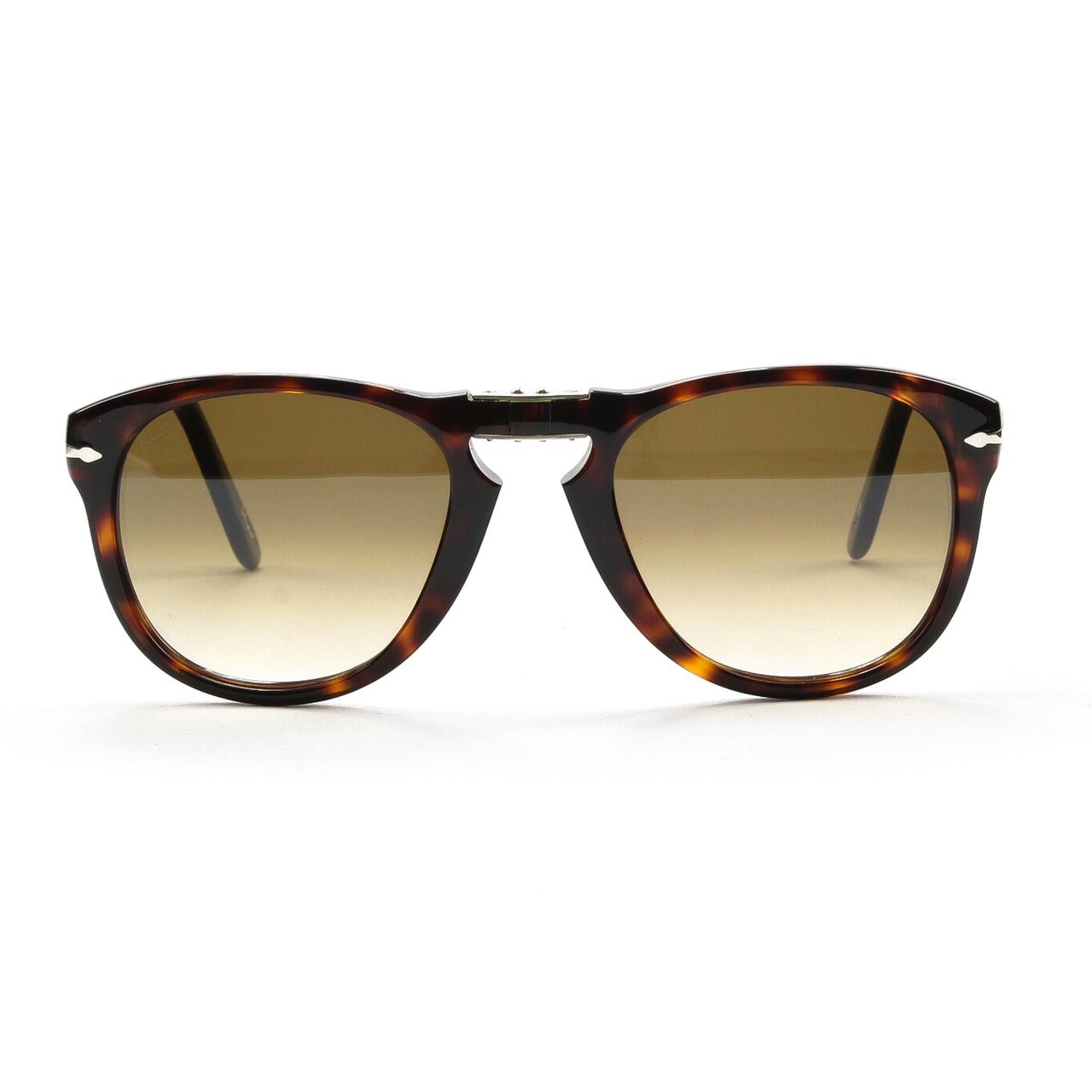 Persol 714 Folding Sunglasses 24/51 Brown Havana, Gradient Lenses PO0714 54mm | eBay