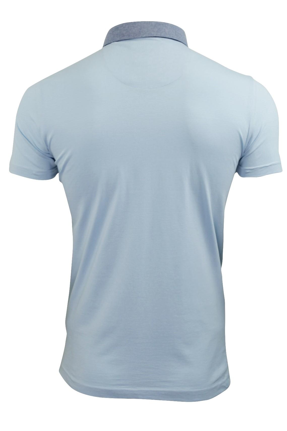 Mens-Polo-T-Shirt-Chimera-Brave-Soul-Denim-Chambray-Collar-Short-Sleeved-Cotton thumbnail 29