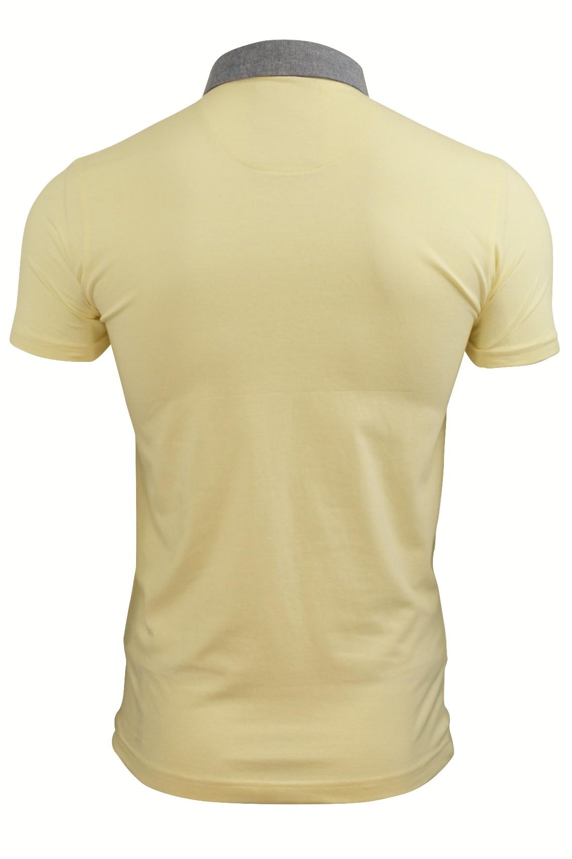 Mens-Polo-T-Shirt-Chimera-Brave-Soul-Denim-Chambray-Collar-Short-Sleeved-Cotton thumbnail 18