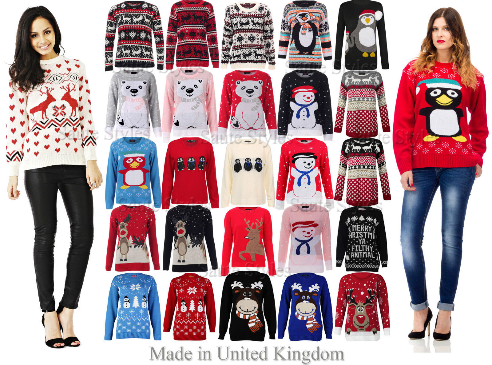 red christmas jumper ladies