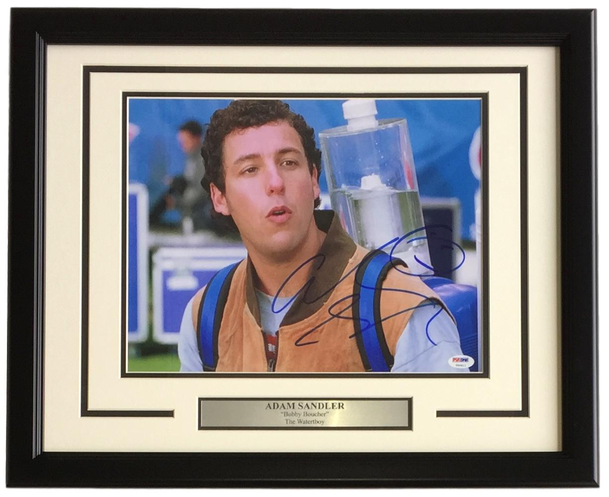 15c97b6b617 Adam Sandler Signed Framed 11x14 The Waterboy Bobby Boucher Photo PSA T50411