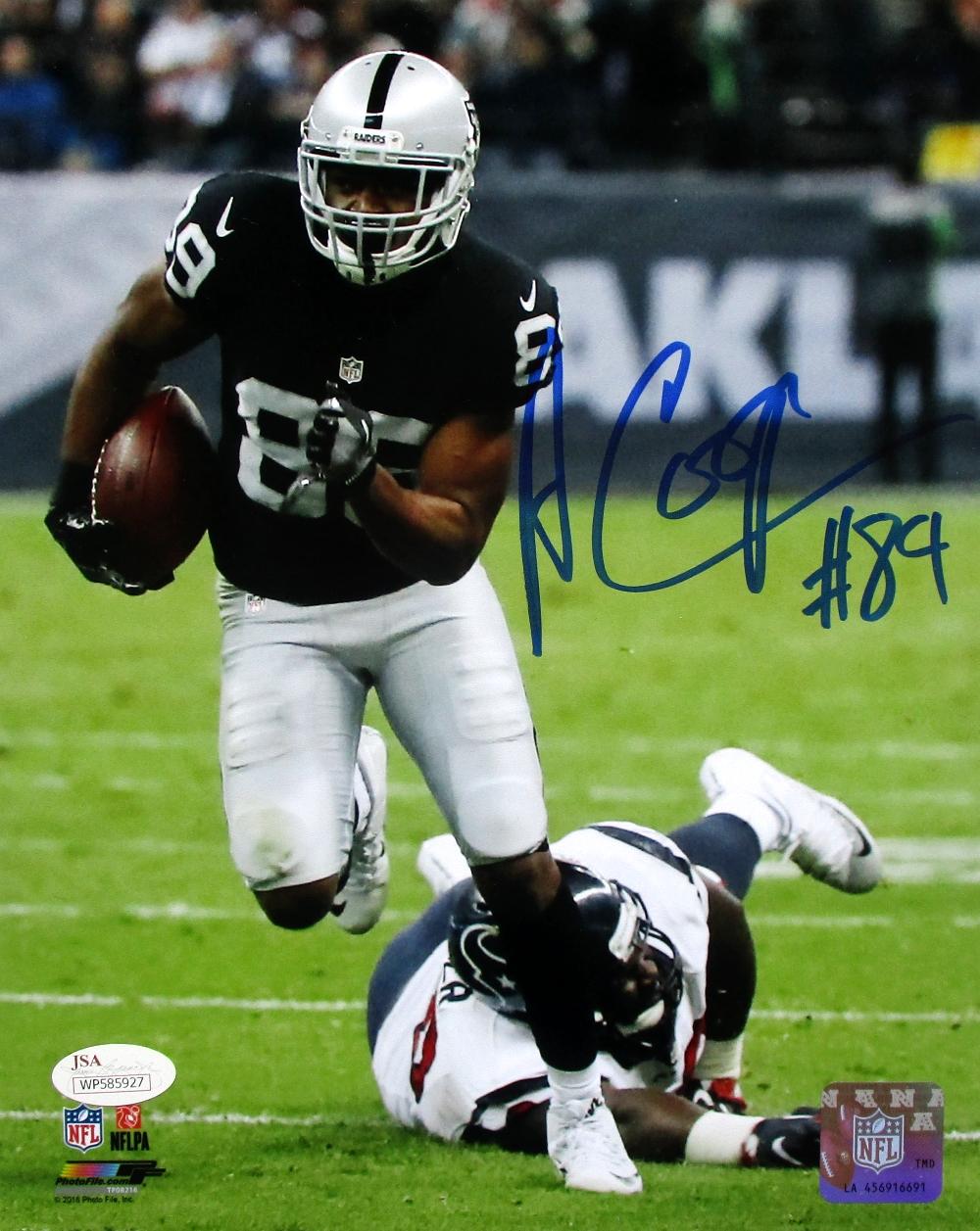 a7a3a389b99 Amari Cooper Signed Oakland Raiders 8x10 Running Photo JSA ITP