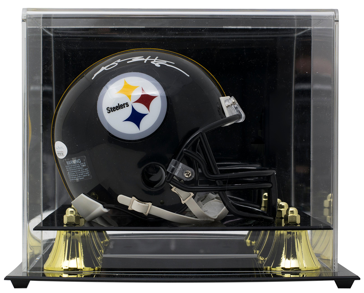 d4190e8f3 Antonio Brown Signed Pittsburgh Steelers Mini Helmet JSA w  Deluxe ...