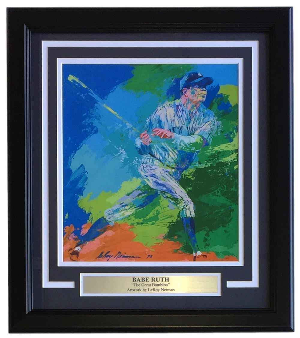 Leroy Neiman Framed 10x12 Babe Ruth The Great Bambino Baseball Print