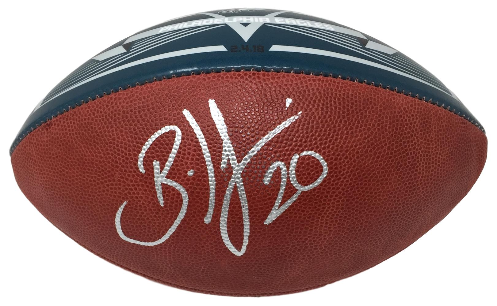 Brian Dawkins Signed Philadelphia Eagles Super Bowl 52 Green Duke Football  JSA db88fd0e2