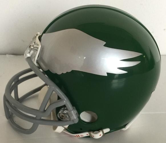 c5f7220fb2b Chuck Bednarik Signed Philadelphia Eagles Throwback Mini Helmet HOF Fanatics
