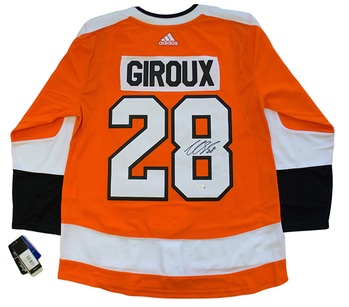 super cute 8a453 5d68d Details about Claude Giroux Signed Philadelphia Flyers Orange Adidas  Authentic Jersey Fanatics